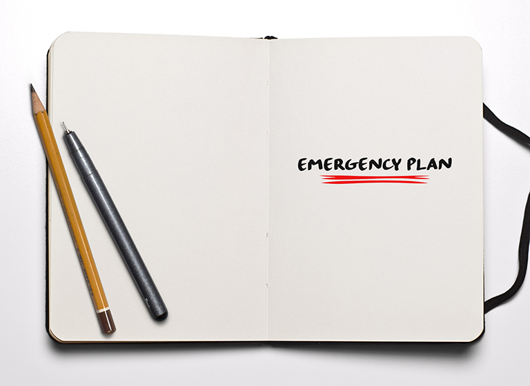 emergency plan notebook in case of earthquake torrevieja