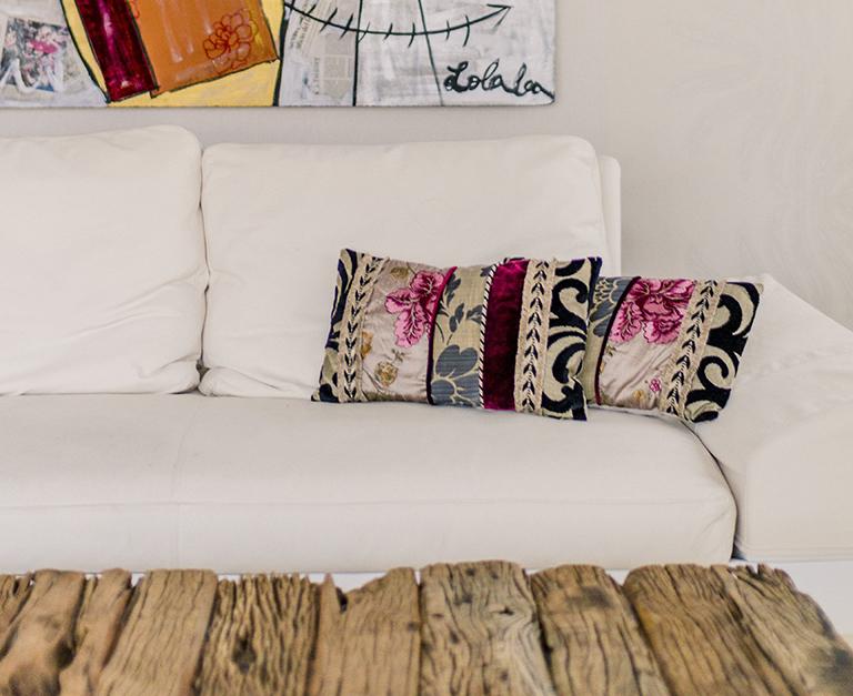 sofá y mesa pallet. Decoración en Torrevieja.